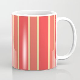 Peach Coral Pink Sugary Candy Stripes Coffee Mug