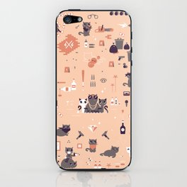 Bad cats iPhone Skin