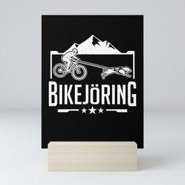 Bikejoring Bikejor Skijoring Dog Mushing Gift Mini Art Print