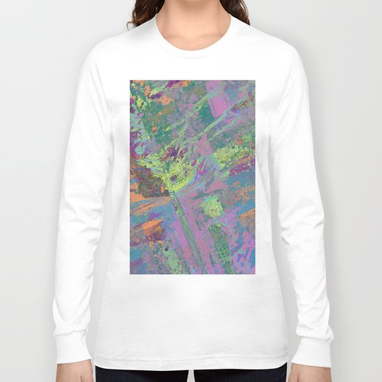 Abstract Thoughts 2 - Textured, painting Long Sleeve T-shirt