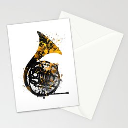 french horn music art #music Stationery Cards