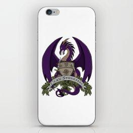 Clan Stonefire Crest - Purple Dragon iPhone Skin