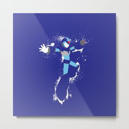 Mega Man X Splattery Design Metal Print