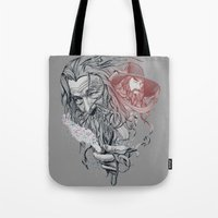 wizard Tote Bags featuring Wizard by 2mzdesign