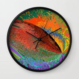 A Splash Of Color Wall Clock