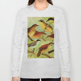Amazonian birds by Göldi & Emil August, 1859-1917 Belem Brazil Colorful Tropical Birds Long Sleeve T-shirt
