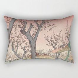 Plum Garden Kamata Ukiyo-e Japanese Art Rectangular Pillow