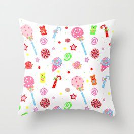 Kid in a Candy Shop Throw Pillow
