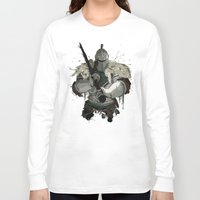 dark souls Long Sleeve T-shirts featuring Dark Souls 2 Knight Splatter by 666HUGHES