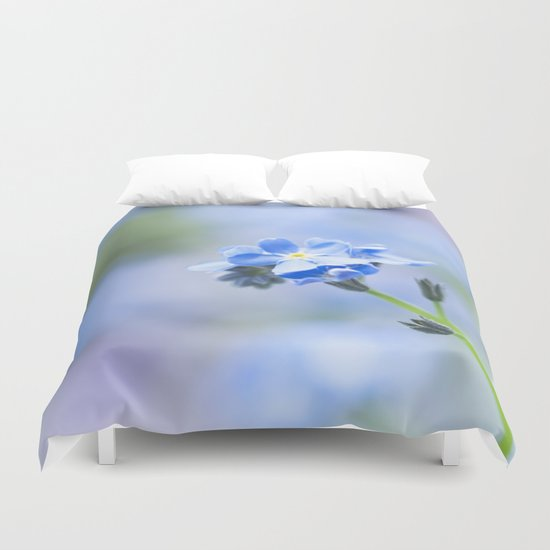Forget-me-not in LOVE - Springflower Flowers Floral on #Society6 Duvet Cover