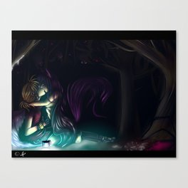 stolen kiss Canvas Print