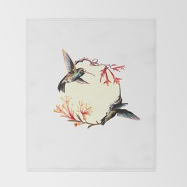 Humming Bird Throw Blanket