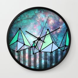 Intergalactic mountains (collab) Wall Clock