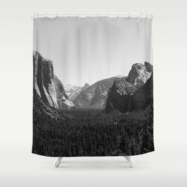Tunnel View, Yosemite National Park III Shower Curtain