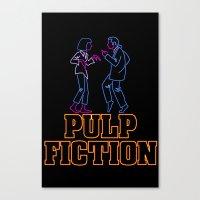 pulp fiction Canvas Prints featuring Pulp Fiction by Studio 401