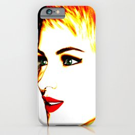 Female Face High Key Painting iPhone Case