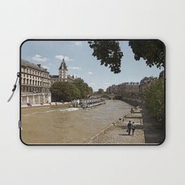 Paris in spring, a romantic walk with a view of Seine Laptop Sleeve