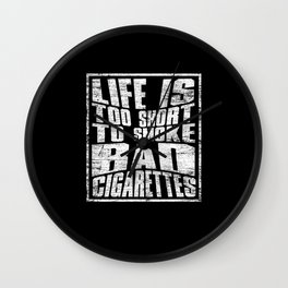 Cigarette Smokers Wall Clock