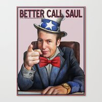 better call saul Canvas Prints featuring Better Call Saul by Magdalena Almero