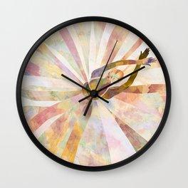 Sleeping Ballerina Floral - Gold Summer Palette Wall Clock
