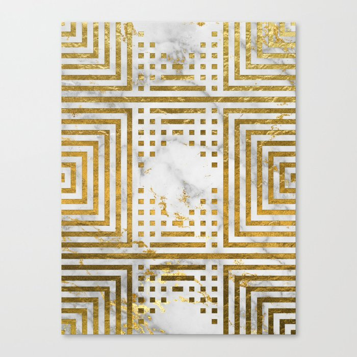 Marble and Gold Pattern #2 Canvas Print