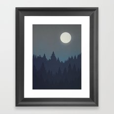 Tree Line - Grey Framed Art Print