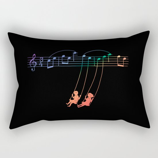 Music Swing Rectangular Pillow
