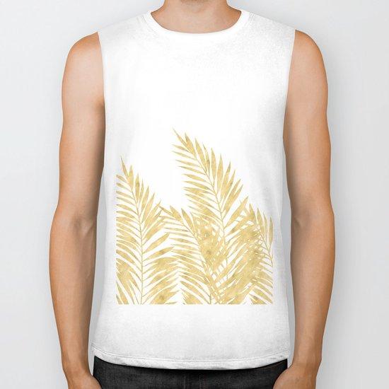 Palm Leaves Golden Biker Tank