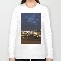 moscow Long Sleeve T-shirts featuring Night Moscow. by Mikhail Zhirnov
