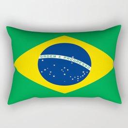 Flag of Brazil-Brazil, flag, flag of brazil, brazilian,Rio, Sao Paulo, Rio de Janiero, carnival Rectangular Pillow