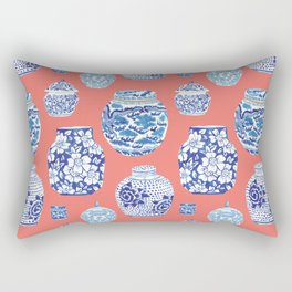 Chinoiserie Ginger Jar Collection No.4 Rectangular Pillow