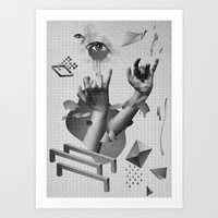 hands Art Prints featuring Hands by Oh Yeah Studio