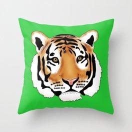 Pop Art Tiger Throw Pillow