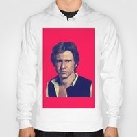 han solo Hoodies featuring Han Solo  by Jemma Klein