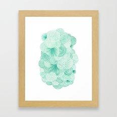 Green Fields Framed Art Print