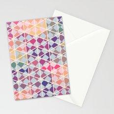 Purple mosaic pattern Stationery Cards