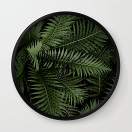 Tropical leaves 02 Wall Clock