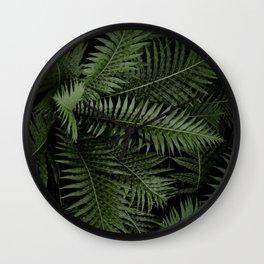 Tropical leaves 02 Wall Clock