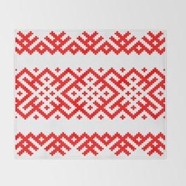Pattern - Bogoroditsa - Slavic symbol Throw Blanket