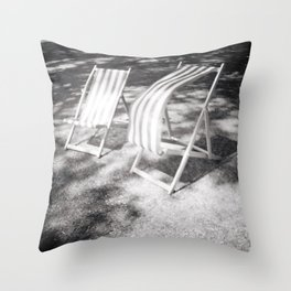 Deckchairs in the Breeze Throw Pillow
