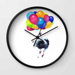 Ostrich can Fly Wall Clock