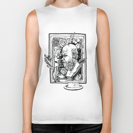 Philosopher with flowers Biker Tank