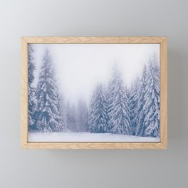 Foggy forest watercolor painting #9 Framed Mini Art Print