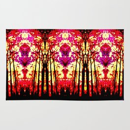 Sunset Stain Glass Rug