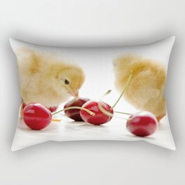 Sweet Chick and red Cherry Rectangular Pillow