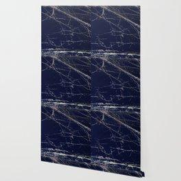 Blue Marble Crease Texture Design Wallpaper