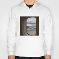 airplane Hoodies featuring Airplane window by RMK Photography