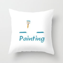 King of Painting Paint Contractor Artist T-Shirt Throw Pillow