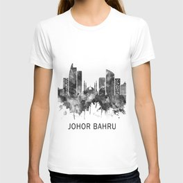 Johor Bahru Malaysia Skyline BW T-shirt