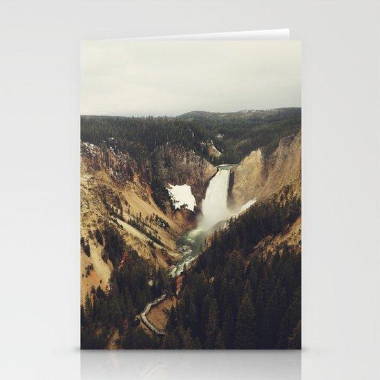 Yellowstone Falls Stationery Cards
